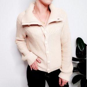 Anthropologie Moth Knit Cowl Neck Cardigan Sweater